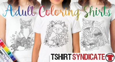 Adult Coloring T-Shirts and Shirts